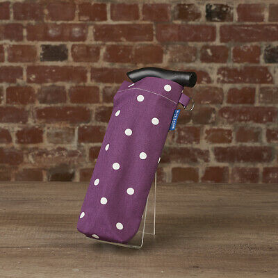 Blue Badge Co Spotty Grape Stylish Storage Bag for Folding Walking Stick
