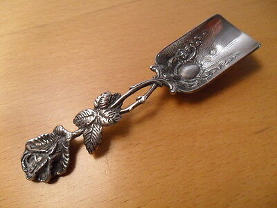 Antique Silver 915 Tea Caddy Spoon. Spanish . Hallmarked