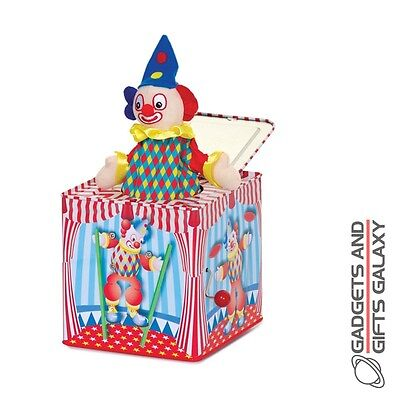 Clown Jack In The Box Traditional Metal Retro Classic Toy Gift Novelty Childs