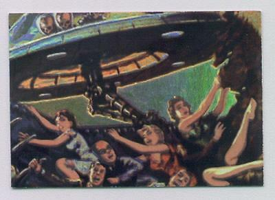 Topps Mars Attacks 1994 card 3 of 4 Crushed to Death