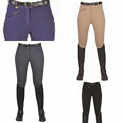 HKM Quality 2016 Cotton Stretch Riding Breeches Trousers Ladies Womens