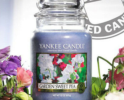 Yankee Candle Garden Sweet Pea 22 oz Jar! My Favorite Scent! Priority Shipping!