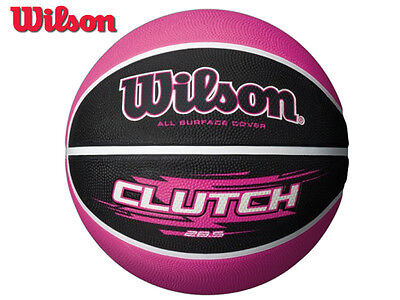 *brand New* Wilson - Clutch 285 Rubber Basketball - Pink/black - Size: 7