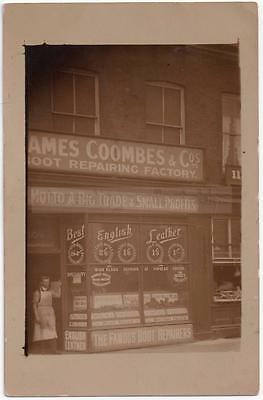 James Coombes & Co SHOPFRONT - Boot Repairer/Cobbler Unlocated/Mystery/Unknown