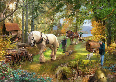 The House Of Puzzles - 500 PIECE JIGSAW PUZZLE - Horse Power Unusual Pieces