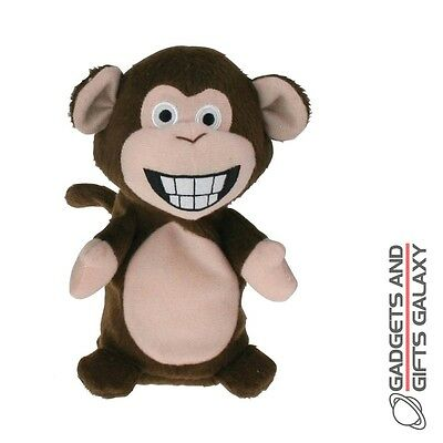 CHITTER CHATTER MONKEY TALKING PLUSH TEDDY REPEATS WHAT IT HEARS toy gift childs