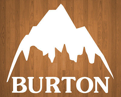 Burton Sticker Mountain Retro Logo All Colors Available 7x6 inch Vinyl