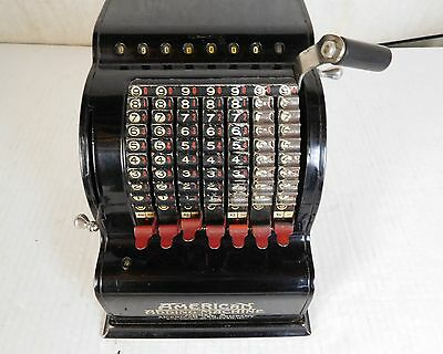 Vintage Mechanical Adding Machine American Can Model 5