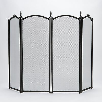 Fireguard Screen Fireside Black Spark Cover Fireplace Protector Safety Folding