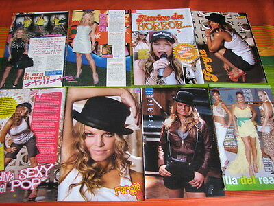 Fergie Black Eyed Peas 116 Us/italian Magazine Clippings Pinups