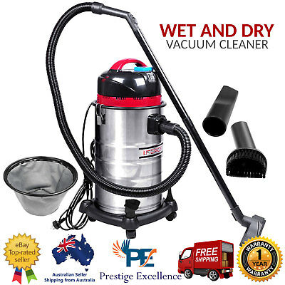 30L Wet And Dry Vacuum Cleaner & Blower Industrial Grade Bagless Drywall Vac New