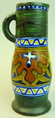 GOUDA DUTCH ART DECO HAND PAINTED POTTERY JUG 'CANDIA' 1930's