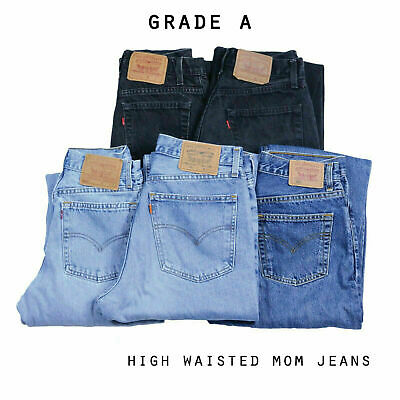 Vintage Levis High Waisted Mom Boyfriend Jeans 26 27 28 29 30 (Grade A)