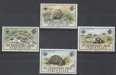 Seychelles Tortoise (Wwf) And Plants 2 Complete Sets Mnh