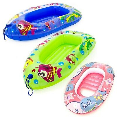 Childs Inflatable Dinghy Float Boat Kids Childrens Swimming Pool Beach Toy