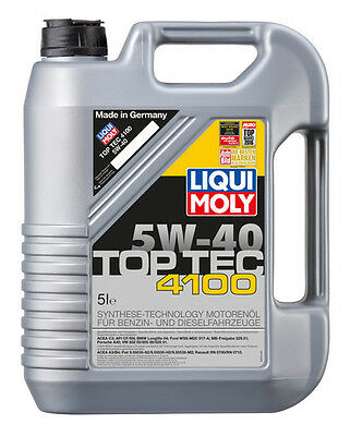 LIQUI MOLY Top Tec 4100 Synthetic Technology Engine Oil 5W-40 5L