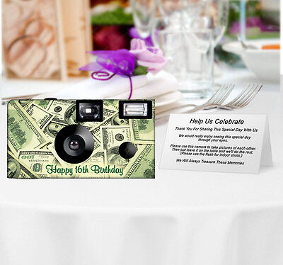 20 Money Disposable Cameras-PERSONALIZE-wedding camera/anniversary