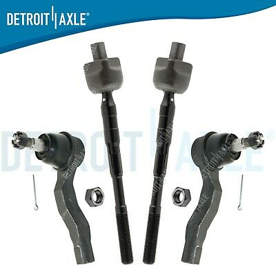 Brand New 4pc Front Inner/Outer Tie Rod End Links for Infiniti G35 Nissan 350z
