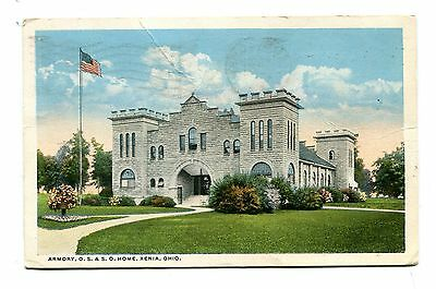 Vintage Postcard XENIA OH Armory Old Soldiers & Sailors OS&SO 1919