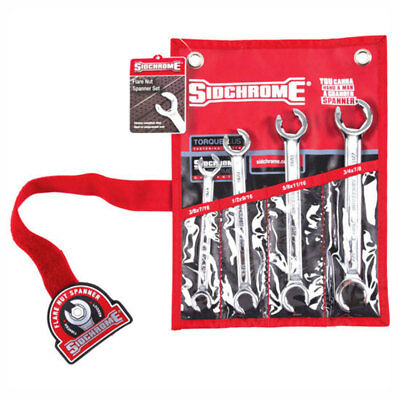 Sidchrome Flare Nut Spanner Imperial 4pc Set