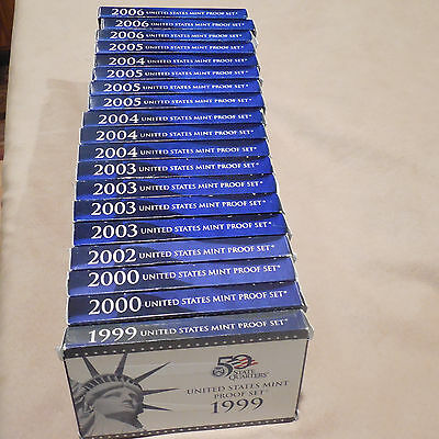 2000 US Coin Proof set/ orig box with COA
