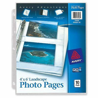 Avery Horizontal Photo Pages, Acid Free, 4 x 6 Inches, Pack of 10 13406