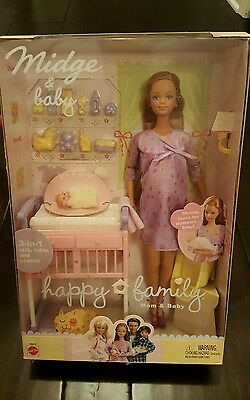 Barbie Midge and Baby RECALLED ERROR Box 2002 Pregnant No Ring Alan