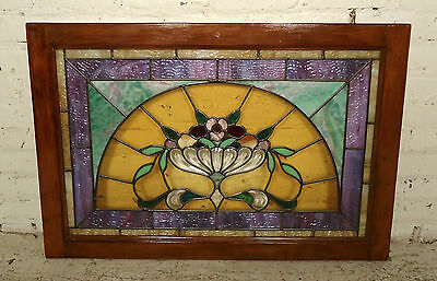Vintage Victorian Stained Glass Window (1872)NS
