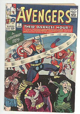 Avengers (1963) #7 First Print Baron Zemo Enchantress Executioner Lee/Kirby VG+