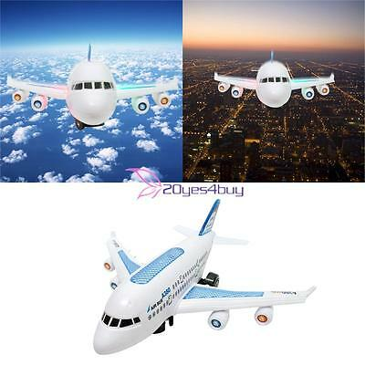 Electric Aeroplane Airbus Model Flashing LED Light Music Toy Aircraft Plane Gift