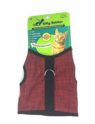 X-Small Crimson Cat Harness by Kitty Holster Exclusive to Net Pet Shops