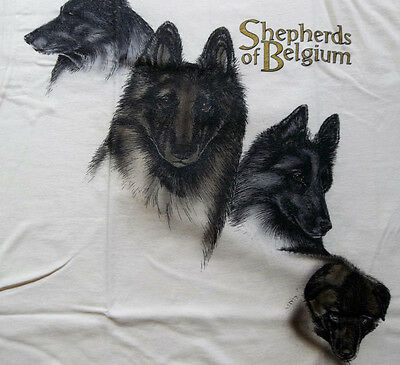 "Belgian Tervuren Shepherd T-shirt "" Natural "" Medium ( 38 - 40 )"