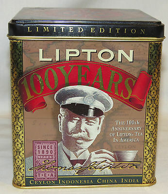 Lipton Tea Tin - 100 Years Anniversary  Limited Edition