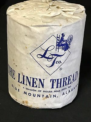 1.25 lb. Vintage Linen Thread Spool The Linen Thread Co., #6 Right Twist unwaxed
