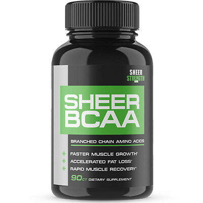 Sheer Strength Labs BCAA Capsules - Extra Strength 1,950mg Branched Chain Aminos