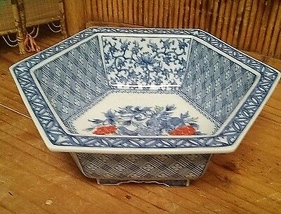 Asian Imari style decorative collectible ceramic kitchen bowl or home decoration