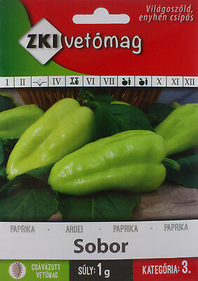 Mildly Hot Sobor Hungarian pepper seeds. approx. 1 g seeds