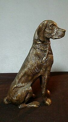 Poignant Cast Metal Dog Stray/Rescue Labrador Sculpture Figurine