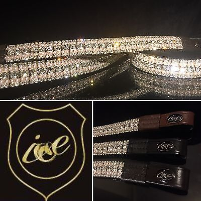 "Bling Dressage ICE Crystal/Pearl Dressage Browband. Mega Sparkly. 13""-17"""