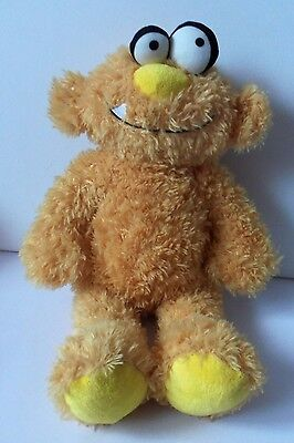 Chad Valley Toys Design A Bear Cool Dudes Yellow Plush Soft Toy Monster Figure