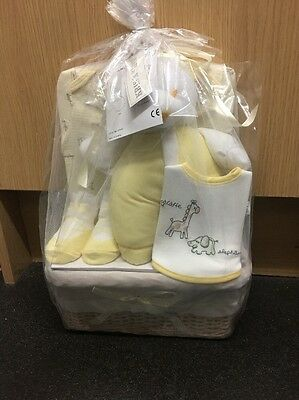 BRAND NEW KRIS X KIDS Deluxe 5 piece baby gift basket 0-3 Months in Lemon