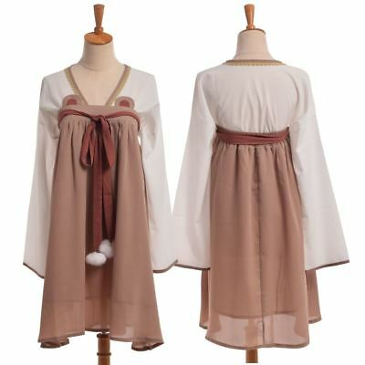 Sweet Retro Lolita Vintage Maid Chest Dress Ancient Han Chinese Clothing Cosplay