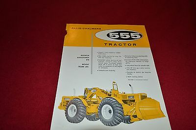 Allis Chalmers 555 Tractor Dealers Brochure YABE11