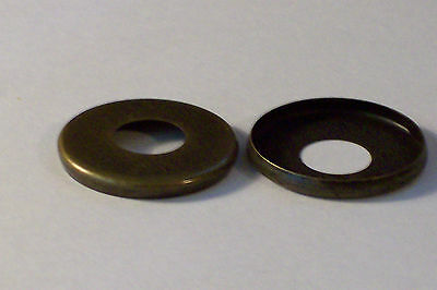 """Lot Of 4 Antique Finish 1"""" Check Rings Lamp Part New 54758J"""