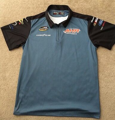 AHR RACING Pit Crew Shirt Team Issue NASCAR Camping World Truck Large L Rare