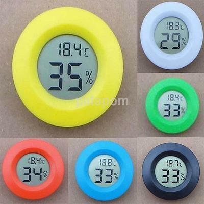 Mini Indoor LCD Hygrometer Humidity Thermometer Round Temperature Meter 1PCS
