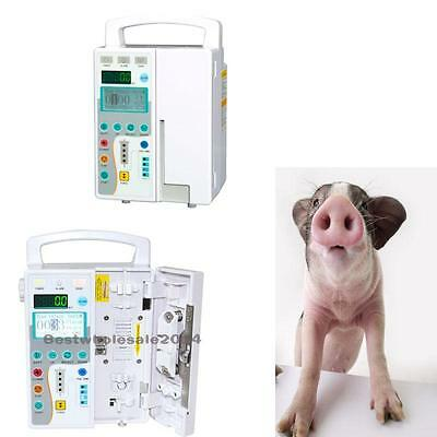 Medical Veterinary IV Fluid Infusion Pump Equipment With Voice Alarm CE Updated