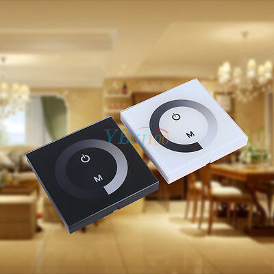 Sensitive Touch Panel LED Light Dimmer Controller Wall Mounted Switch DC 12V-24V