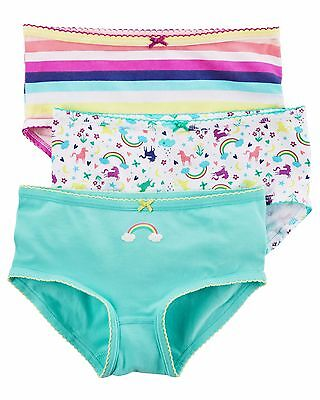 Carter's  Girls' 3-Pack Stretch Cotton Panties    MSRP$12.00  Size 2--8