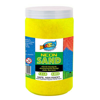 Colour Neon Art Sand 600g Great for School & Home & Party Craft Sand Art